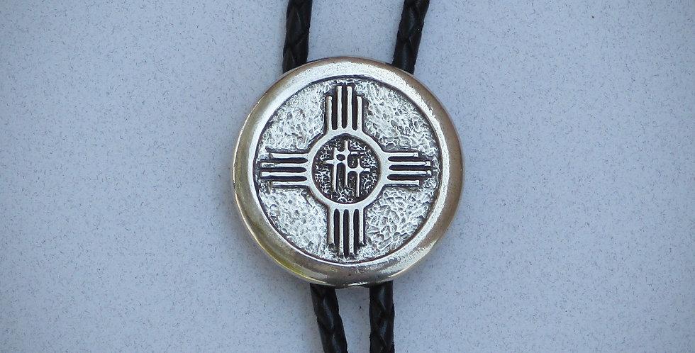Zia with 3 Crosses Bolo Tie