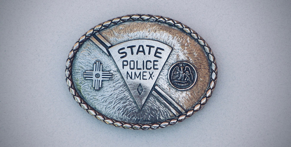 New Mexico State Police Belt Buckle