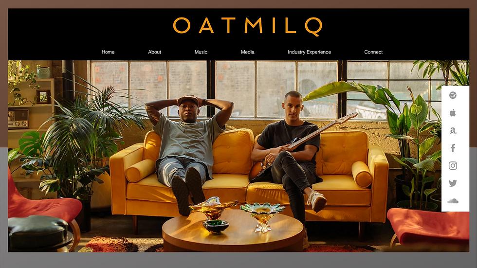 OatMilq Music Homepage