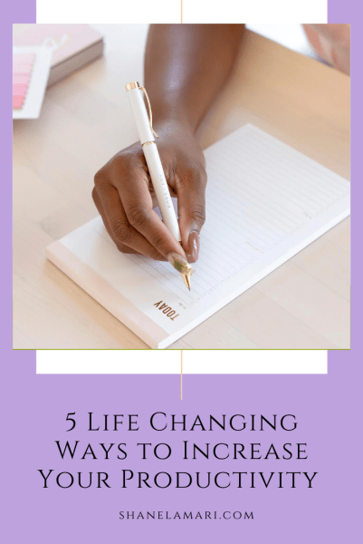 It's so easy to be overwhelmed by life's duties. These productivity tips have been so helpful for me to build a structure around my day, feel less overwhelmed, and take control of my time as I increased my productivity. Read more on shanelamari.com.