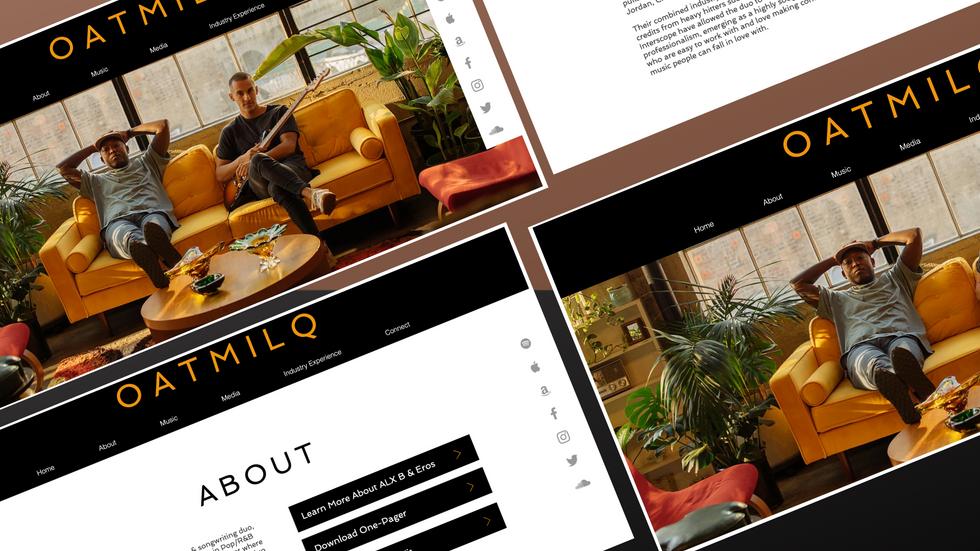 OatMilq - Homepage Showcase