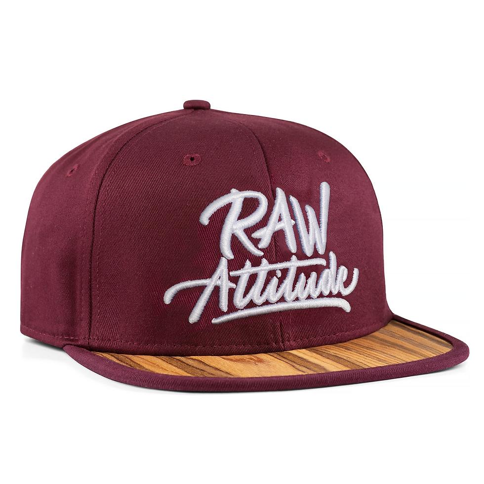 Raw Attitude Wooden Snapback