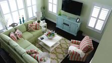 Green Slipcover Sectional