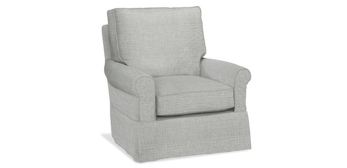 Round Arm Slipcover Chair