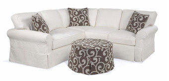 Round Arm Slipcover Sectional