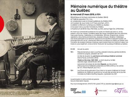 RAPPELS, mémoire numérique du théâtre au Québec