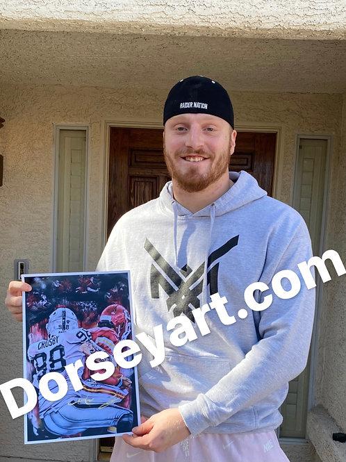 "Maxx Crosby  ""Got 'Em"" Signed Print"
