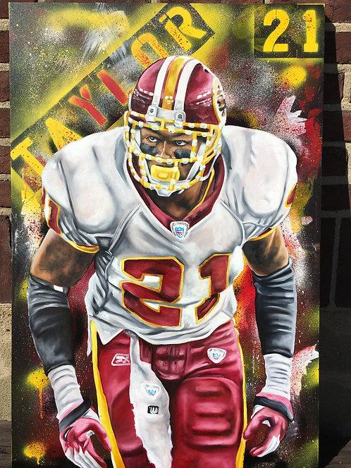 Sean Taylor Hand Embellished Canvas Print
