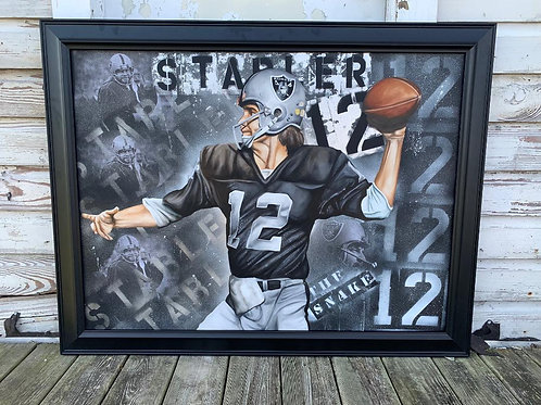 Ken Stabler Painting (Does Not Come Framed)