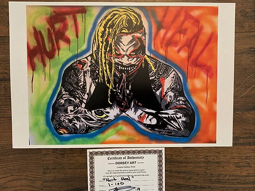 Bray Wyatt The Fiend Hurt Heel Print