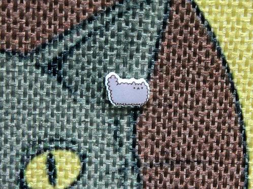 Cat Earrings - Fluffy Grey Kitten - Stormy