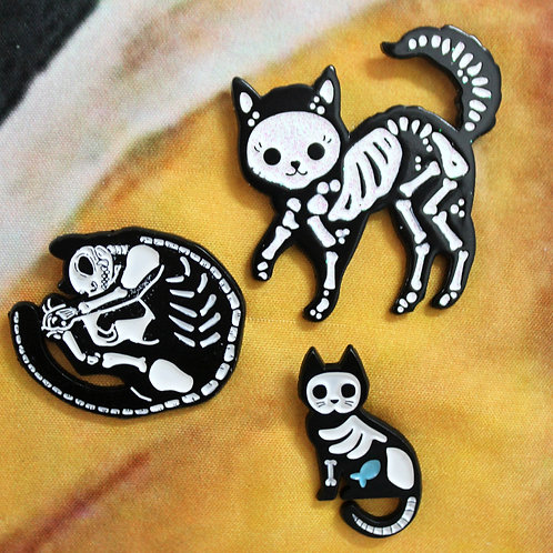 Skele-Cat Pin Collection