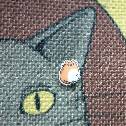 Cat Earrings - Chonky Ginger Cat