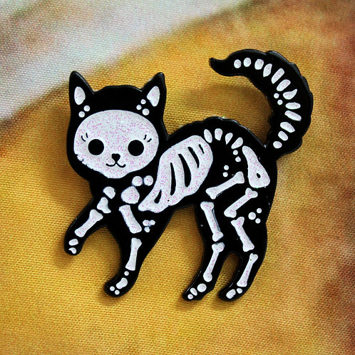 Sparkly Skele-cat