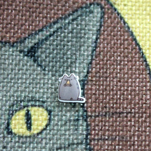Cat Earrings - Cat Eating Pizza - Pusheen with Pizza