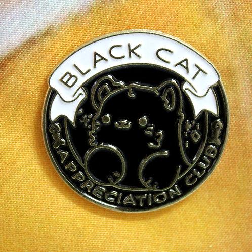 Black Cat Appreciation Club Cat Pin
