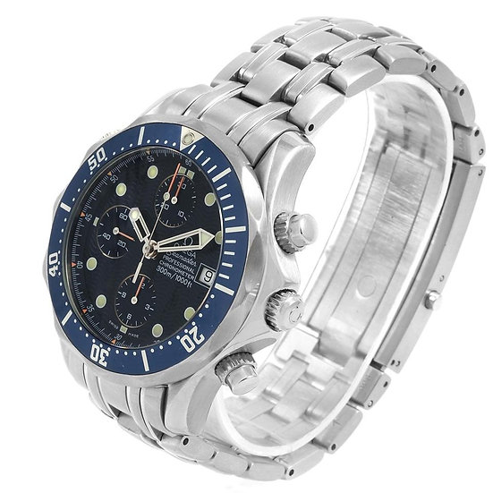 Omega Seamaster Pro 2599.80 42mm Stainless Steel Blue Wave Mens Diver Watch 300m