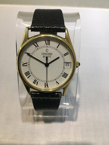 Concord ESA 940.111 33mm Solid 14k Gold Mens Swiss Quartz Watch