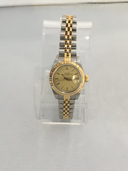 Rolex ♛ Datejust (Two-Tone) 26mm YG/SS Women's Watch 68273