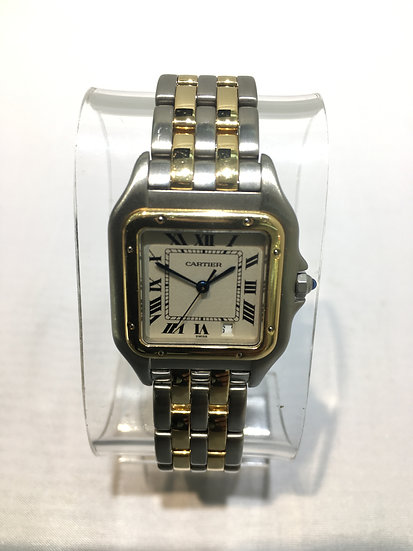 Cartier Panthere Two-Tone 18k Yellow Gold/Stainless Steel Luxury Ladies Watch