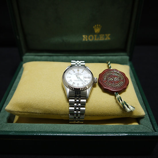 Rolex Datejust 22mm Stainless Steel White Roman Numeral Dial w/ Dia. Hr Markers