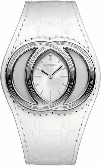 Versace Eclissi White Gullloche Dial w/ Diamonds Women's Watch 84Q99SD001 S001