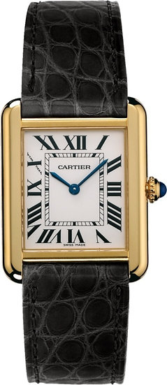 Cartier Tank Solo 1140 18k Yellow Gold/Stainless Steel Luxury Wrist Watch