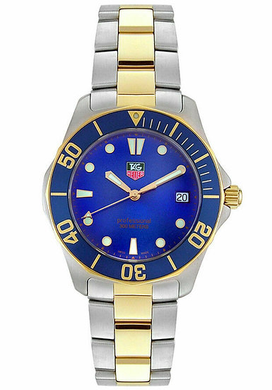 Tag Heuer Aquaracer Two-Tone Stainless Steel w/ Blue Bezel & Dial