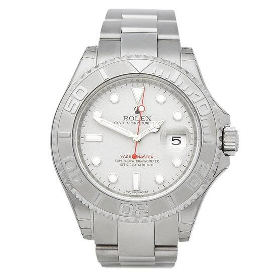 Rolex ♛ Yacht-Master 40mm Platinum Dial and Bezel Men's Luxury Watch 116622