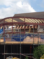 Curved Flat Roof - Keech Cottage