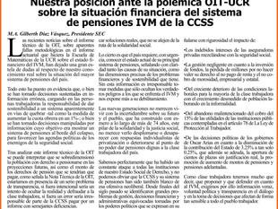 Nuestra posición ante la polémica OIT-UCR sobre la situación financiera del sistema de pensiones IVM