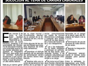 SEC - ANDE y SITRACOME EXIGIMOS AL MEP SOLUCIÓN AL TEMA DE CARGAS LABORALES