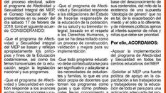 Posición del SEC sobre los programas de estudio de Afectividad y Sexualidad Integral del Ministerio