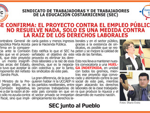 Se confirma: el proyecto contra el empleo público no resuelve nada, solo es una medida contra la raí