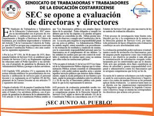 ¡SEC se opone a evaluación de directoras y directores!