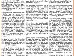 La UCCAEP no tiene la autoridad moral, ética y patriótica para referirse al Magisterio Nacional