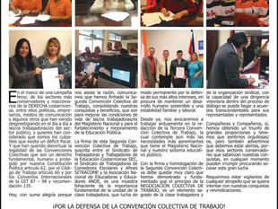 Magisterio Nacional logra su segunda Convención Colectiva