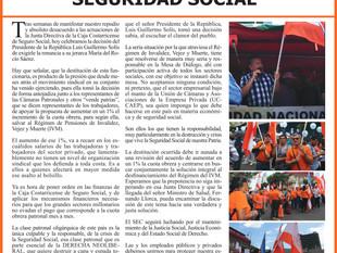 UN TRIUNFO DE LA CLASE TRABAJADORA EN DEFENSA DE LA SEGURIDAD SOCIAL