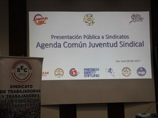 Jóvenes presentan Agenda Común de la Juventud Sindical