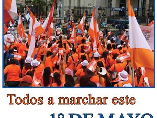 Todos a marchar este 1° de mayo