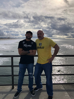 Jason and I in Huntington Beach California for High Rolerz
