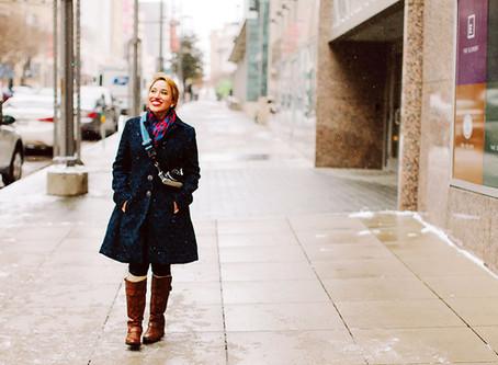 冬のレディースコーデ ジーンズ×コートの着こなし