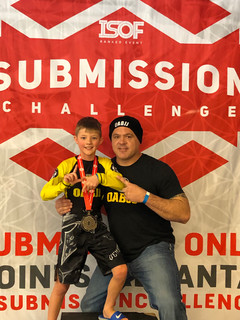 Caiden and I on the podium.