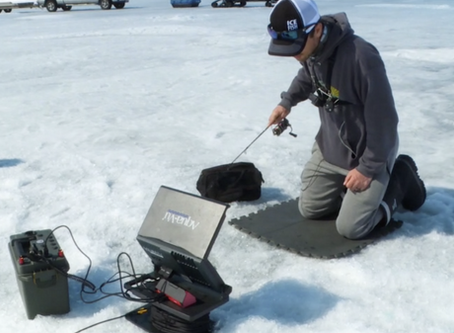 What Are The Benefits Of Using A Portable Power Box While Ice Fishing?