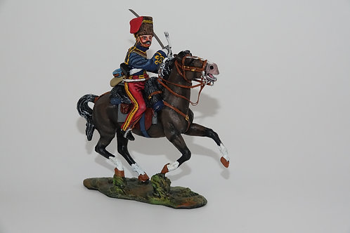 prince alberts 11th hussars sword across body to strike to the right