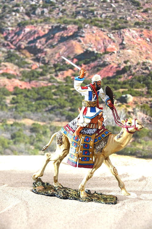 Mahdist with sword on camel