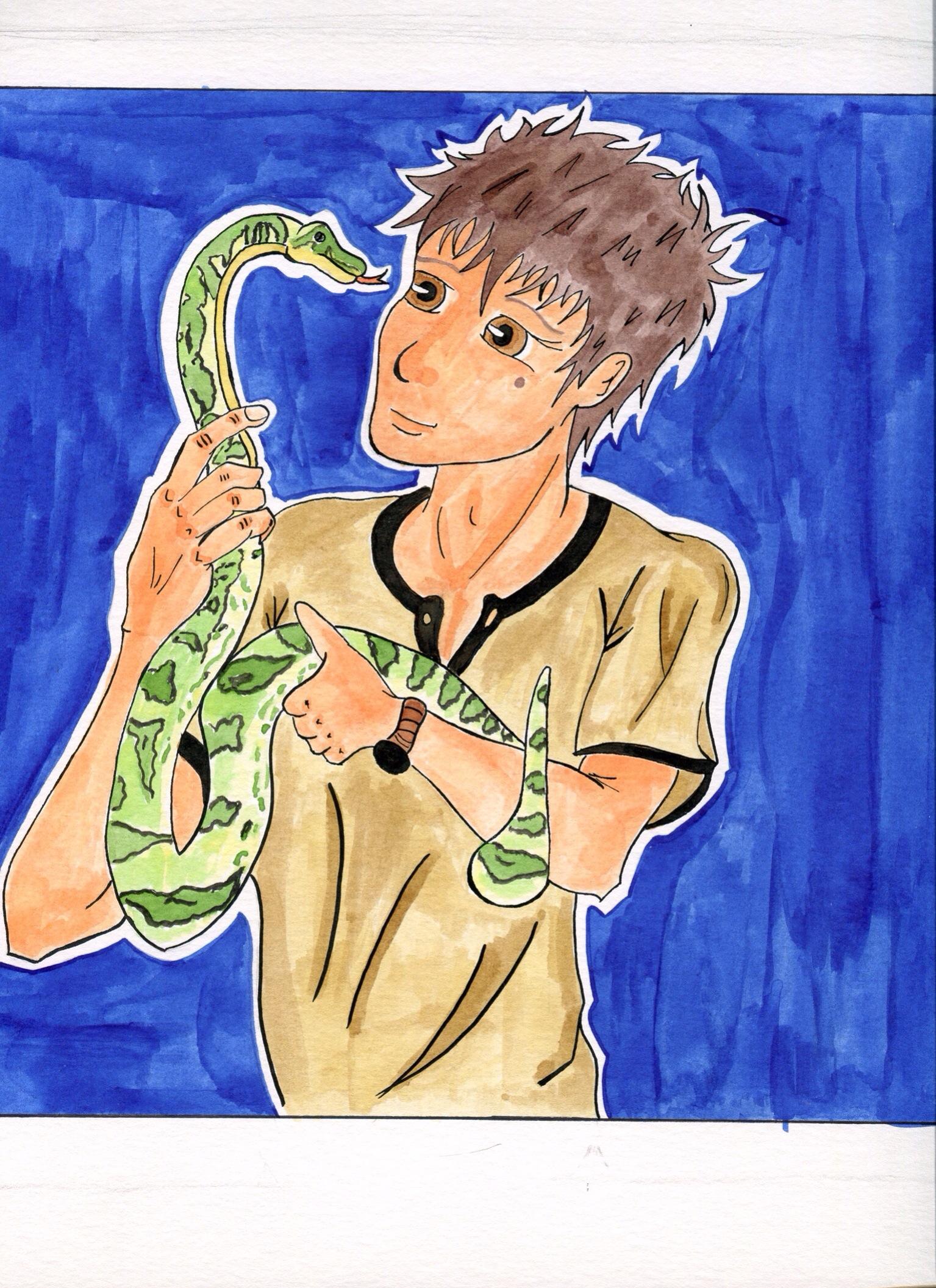Los Príncipes Morados_Isma y serpiente_David Pallás Gozalo