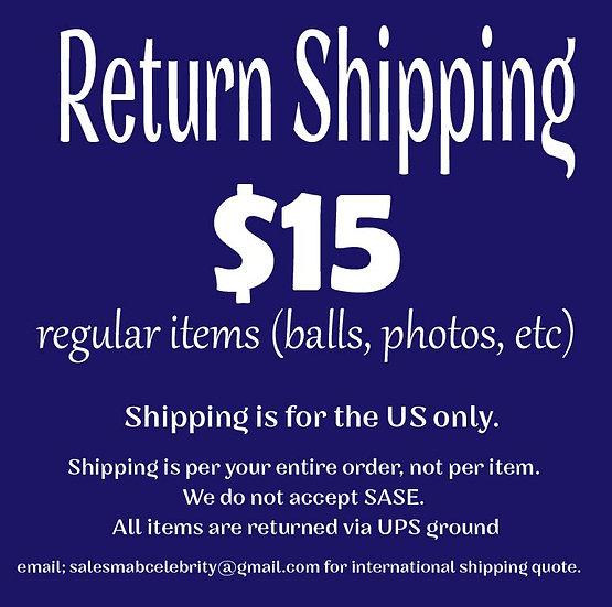 Return Shipping Regular Mail Order Item