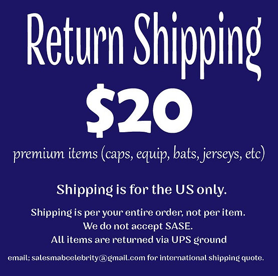 Return Shipping Premium Mail Order Item