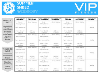 FREE SUMMER SHRED WORKOUT CHALLENGE!